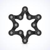 Estrela de David feita da corrente Imagens de Stock Royalty Free