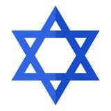 Estrela de David Flat Icon Isolated no branco Imagens de Stock Royalty Free