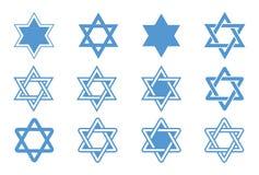 Estrela de David. Ilustração do vetor. Fotografia de Stock