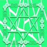 Estrela de David no fundo verde isolado Fotografia de Stock