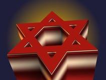 Estrela de David vermelha Fotos de Stock