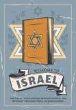 Estrela de Davids do símbolo do judaísmo em Torah ilustração royalty free