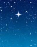 Estrela de desejo brilhante ilustração stock