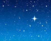 Estrela de desejo brilhante Fotografia de Stock Royalty Free