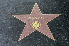 Estrela de Doris Day na caminhada de Hollywood da fama Foto de Stock Royalty Free