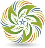 A estrela de Eco entrega o logotipo ilustração do vetor