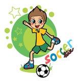 Estrela de futebol Imagens de Stock
