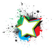 Estrela de Grunge Fotografia de Stock Royalty Free
