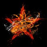 Estrela de Grunge, ornamento das flores ilustração royalty free