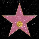 Estrela de Hollywood ilustração stock