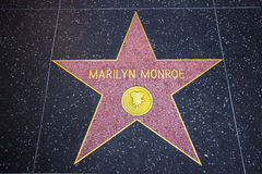 Estrela de Hollywood de Marilyn Monroe Foto de Stock