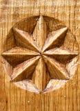 Estrela de madeira imagem de stock