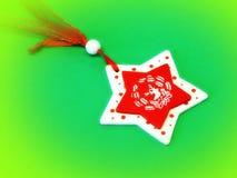 Estrela de madeira Foto de Stock Royalty Free