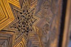 Estrela de madeira imagens de stock