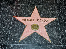 Estrela de Michael Jackson Foto de Stock Royalty Free