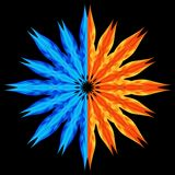Estrela de Multieventual. Água e incêndio. Foto de Stock Royalty Free