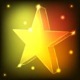 Estrela de néon Foto de Stock
