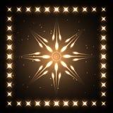 Estrela de néon Fotografia de Stock Royalty Free