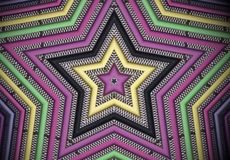 Estrela de néon Foto de Stock Royalty Free