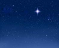 Estrela de noite de incandescência Foto de Stock
