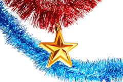 estrela de Novo-ano Fotografia de Stock Royalty Free