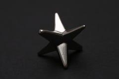 Estrela de prata Fotografia de Stock Royalty Free