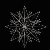 Estrela de prata ilustração royalty free