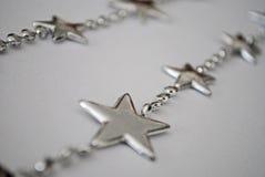 Estrela de prata Foto de Stock Royalty Free
