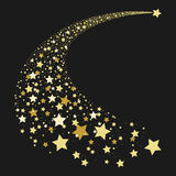 Estrela de queda abstrata do ouro Imagens de Stock