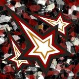 Estrela de queda abstrata do papel de parede do fundo Ilustração do Vetor
