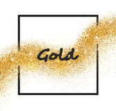 Estrela de queda efervescente dourada do vetor Fotos de Stock