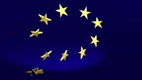 A estrela de queda simboliza o Brexit ilustração do vetor