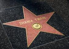 Estrela de Shania Twain na caminhada de Hollwyood da fama Foto de Stock