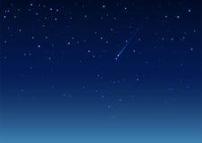 Estrela de tiro no céu nocturno Foto de Stock