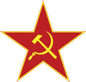 Estrela de URSS isolada Fotos de Stock