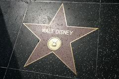 Estrela de Walt Disney Imagem de Stock Royalty Free