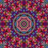 Estrela decorativa colorida abstrata da flor de Digitas Foto de Stock