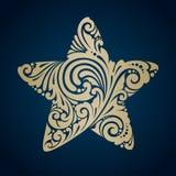 Estrela decorativa decorativa do símbolo Foto de Stock