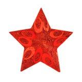 Estrela decorativa do Natal Fotografia de Stock Royalty Free
