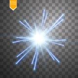 Estrela digital clara no fundo transparente Imagem de Stock