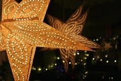 Estrela do advento Imagem de Stock Royalty Free