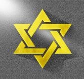 Estrela do amarelo 3D de David Gold judaico Fotografia de Stock Royalty Free