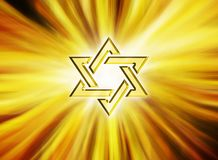 Estrela do amarelo 3D de David Gold judaico Foto de Stock Royalty Free