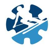 Estrela do anel do esqui Foto de Stock Royalty Free