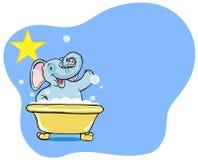 Estrela do banho do elefante Fotos de Stock