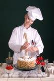Estrela do bolo do encanamento do cozinheiro chefe Fotos de Stock