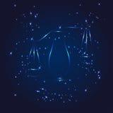 Estrela do brilho do whith do zodíaco da Libra Foto de Stock Royalty Free
