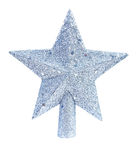 Estrela do brinquedo do Natal para a árvore de abeto isolada no fundo branco Imagem de Stock