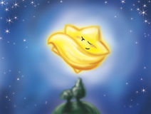 Estrela do cometa do sono ilustração royalty free