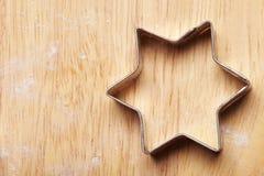 Estrela do cortador do bolinho Imagem de Stock